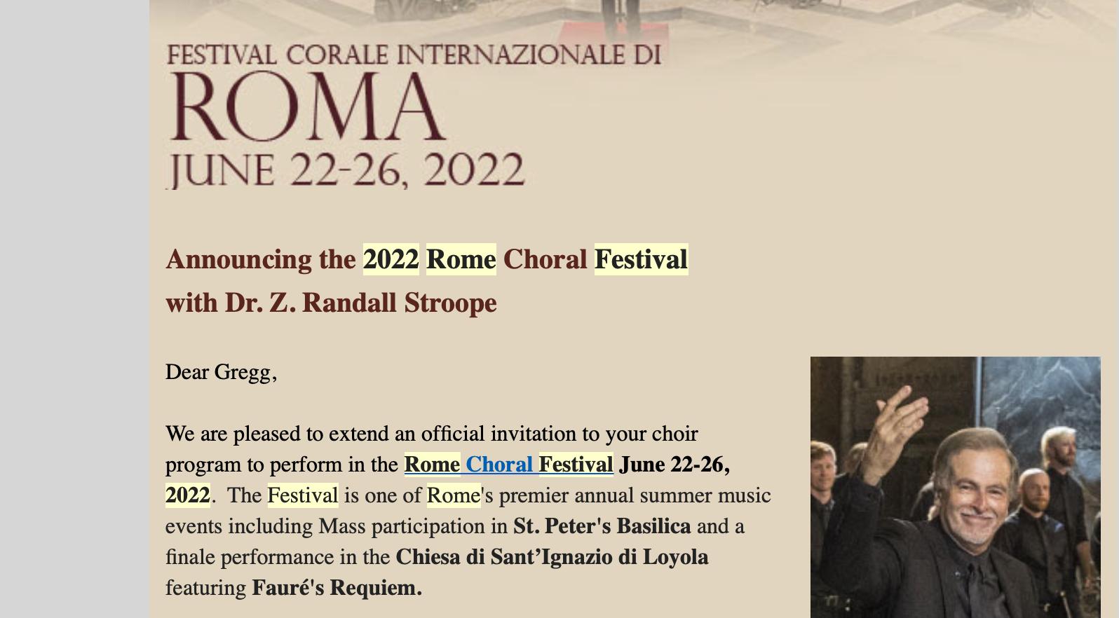 Rome Choral Festival